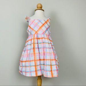 Toddler girl plaid dress